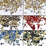6 Bottle Nail Art Rhinestones Nail Crystals AB Mix-size Gem Stones for Nails Art Craft Decoration DIY Nail Salon Beauty Nail Art Supplies