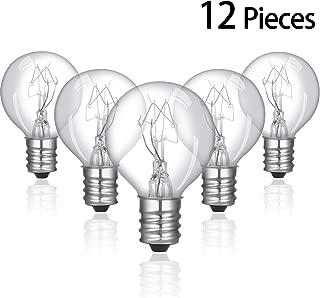 12 Pieces 20 Watt Bulbs Wax Warmer Bulbs Incandescent Clear Light Bulbs G30 Globe with E12 Candelabra Base for Middle Size Scentsy Warmers