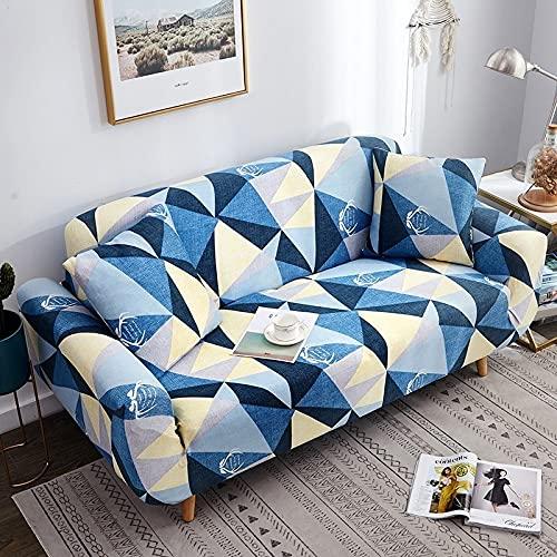 Toalla de sofá con Funda geométrica Rosa elástica Flexible, Funda de sofá Envuelta con Todo Incluido para sillón de sofá de Diferentes Formas A15, 1 Plaza