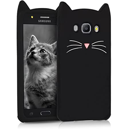 Kwmobile Hülle Kompatibel Mit Samsung Galaxy J5 2016 Duos Handy Case Handyhülle Silikon Cover Schutzhülle Katze Schwarz Weiß Elektronik