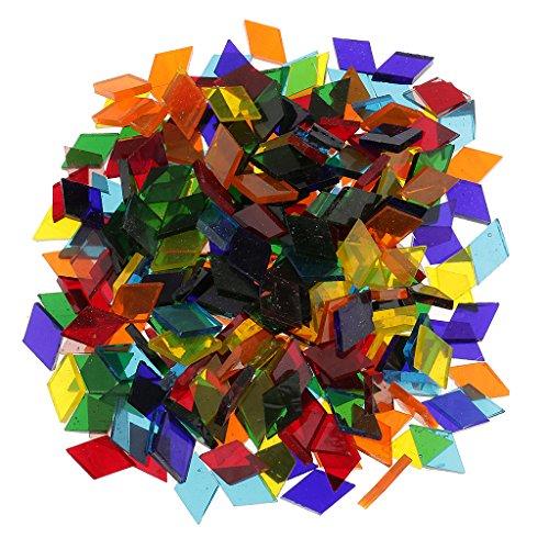 160g Bunte Gemischt Glas Mosaik Mosaiksteine Glasmosaik Glassteine - Rhombus, 11mm