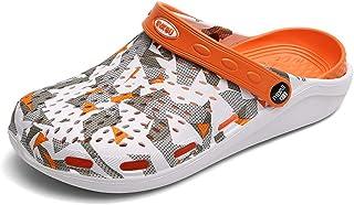 FDSVCSXV Mens Classic Seasonal Graphic Clog, Lightweight Garden Shoes for Men Summer Slippers Unisex Sandals Adjustable No...
