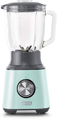 Dash Quest Countertop Blender 1.5L with Stainless Steel Blades for Coffee Drinks, Deserts, Frozen Cocktails, Purées, Shakes, Soups, Smoothies & More - Aqua