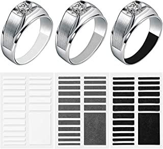 DELFINO Invisible Ring Size Adjuster 3 Sheets for Loose Rings, Ring Sizer for Fixing Wide Rings, Jewelry Ring Guard Ring S...