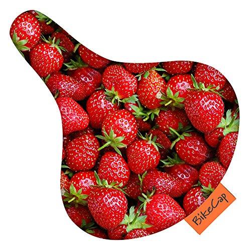 BikeCap Sattelschoner - Erdbeeren