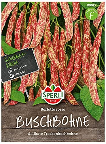 80015 Sperli Premium Buschbohnen Samen Borlotto Rosso | Beliebte Sorte | Trockenkochbohne | Borlotti Bohnen | Käferbohnen Samen