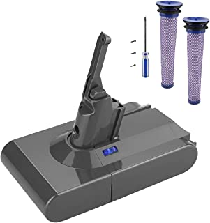 Powilling 21.6V 3.5Ah Lithium-Ion Battery Replacements for Dyson V8 Cordless Handheld Vacuum