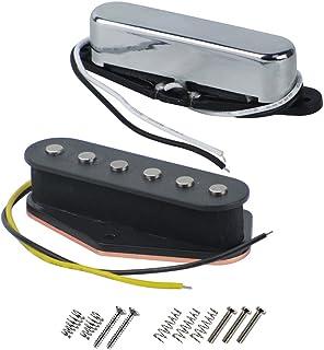 FLEOR Single Coil Pickup Alnico 5Pickups para Fender Tele Guitarra eléctrica estilo pastillas