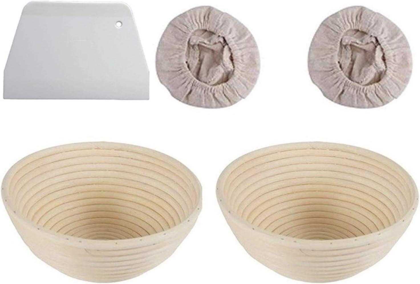 YWSZY Bread Proofing shipfree Baskets 5pcs Chicago Mall Fermentation Set Rattan