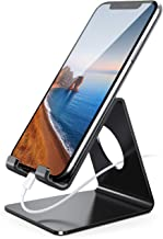 Lamicall Cell Phone Stand, Phone Dock: Cradle, Holder, Stand for Office Desk, Compatible with iPhone 11 Pro Xs Xs Max Xr X 8 7 6 6s Plus, All Android Smartphones Charging - Black (Non-Adjustable)