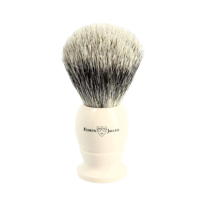 クレーン時代遅れ一時停止エドウィンジャガー アイボリー ベストバッジャーアナグマ毛 シェービングブラシ大3EJ877[海外直送品]Edwin Jagger Ivory Best Badger Shaving Brush Large 3EJ877 [並行輸入品]