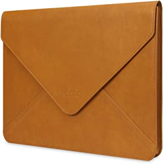 Plemo Laptop Sleeve Case Compatible with 13-13.3 inch MacBook Pro, MacBook Air, Notebook Computer, Water-Resistant PU Leather Protective Case Cover, Brown