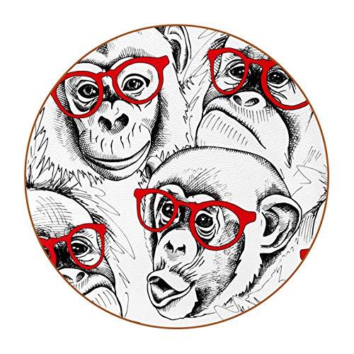 6 posavasos con imagen y texto personalizables para inauguración de la casa, regalos de anfitriona, registro de boda, decoración de habitación, mono blanco
