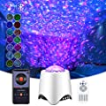 Night Light Projector, Kids Night Light, Enow 4 in 1 LED Star Galaxy Party Light Projector with Ocean Wave, 16 Music/Sounds, 8 Lighting Modes, Adjustable Brightness/Speed/Color, Voice/Remote Control