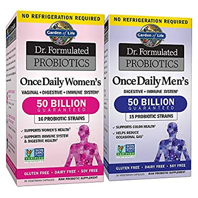 Garden of Life - Dr. Formulated Adult Probiotics Once Daily Ultra - Acidophilus Probiotic Supports Colon, Digestion, Immune System