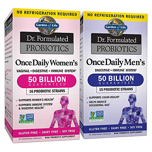 Garden of Life Probiotic Bundle: Dr. Formulated Once Daily Women's & Men's Probiotics, 50 Billion...