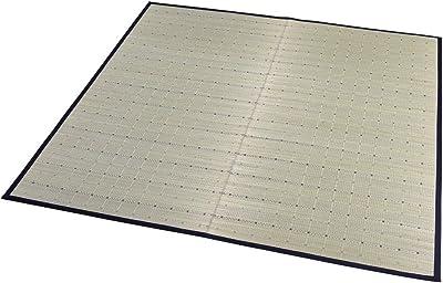 大島屋(Ooshimaya) イ草 ブルー 約180×230cm イ草 ラグ フロー ブルー 約180×230cm