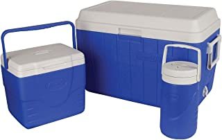 Coleman 3-Piece Combo 54 Quart Blue Cooler