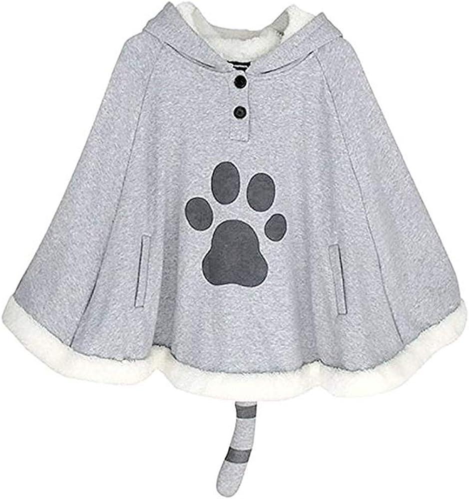 BAIMORE Japanese Mori Girl Kawaii Cute Cat Ears Hooded Cape