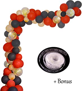 Red Black Gold Balloon Garland Arch Kit 16Ft Bidal Baby Shower Balloons Weeding Birthday Bachelorette Party Backdrop Black Red