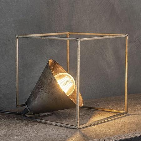 famlights Table Lamp e27 Table Lamp Metal - Table Lamp vintage - lampe de table rétro pour salon et chambre à coucher/design industriel Lampe de chevet - argent