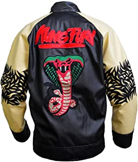 Mens Kung Fury-David Hasselholf Cobra Leather Jacket