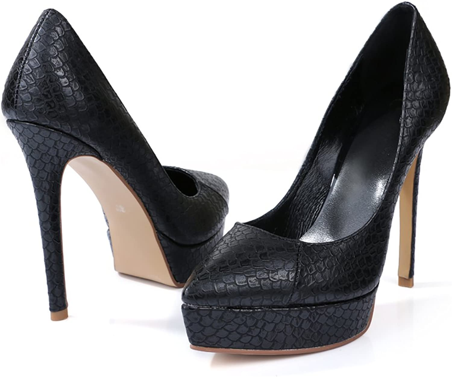 Lacitena Soft Goatskin Leather Women's Pointed Toe Stiletto Heels, Pumps Dress shoes Office shoes