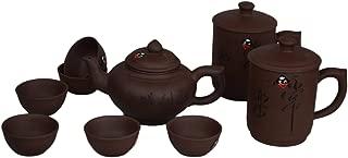 9 Pcs Yixing Zisha Purple Clay Purple Sand Tea Set Fine Tea Pot Tea Cups Traditional Kung Fu Tea