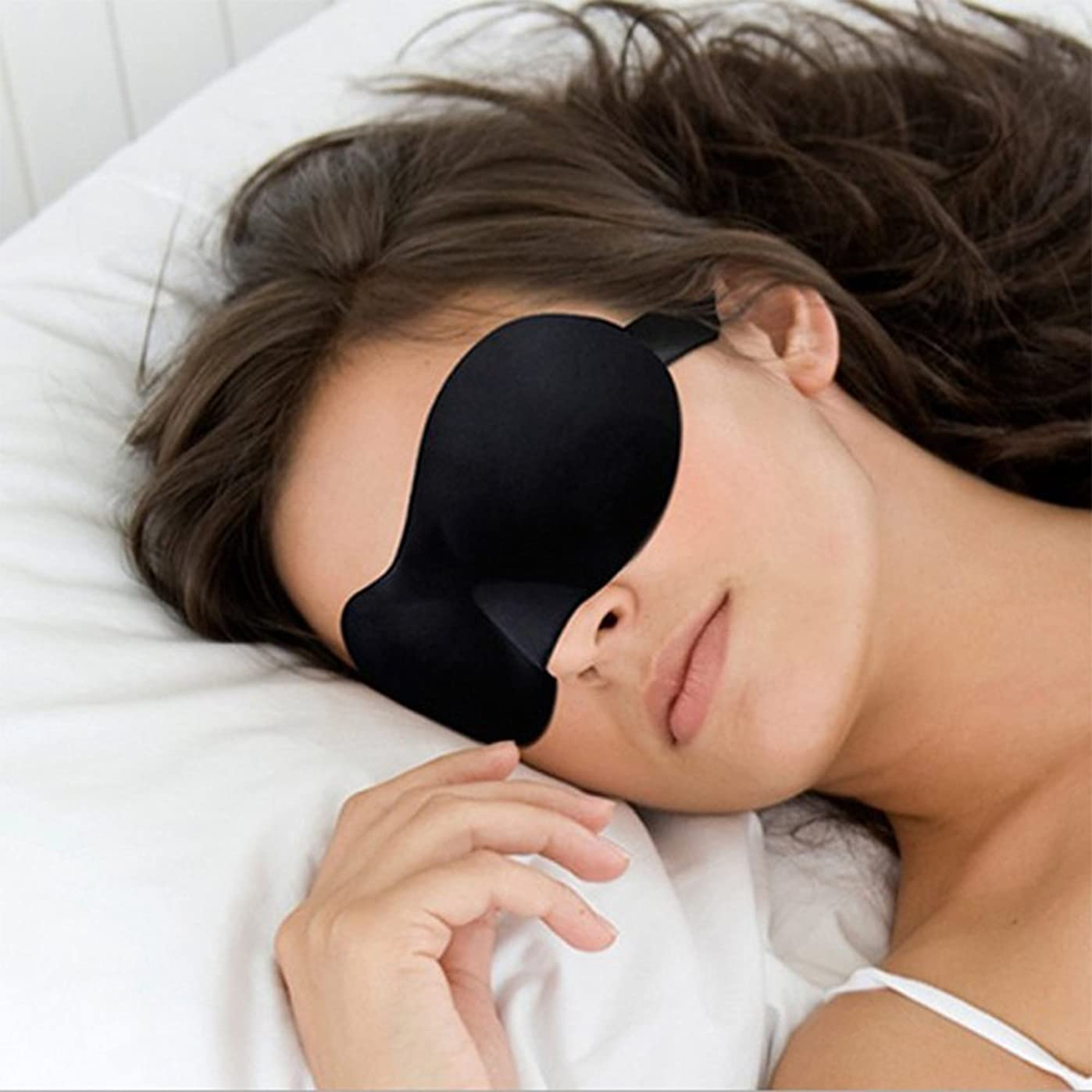 モニカ側特権的NOTE 調節可能な3D輪郭のアイマスクスリープマスク軽量で快適なスーパーソフト、シフトワーク、ナップス、ナイトブラインドフォールドアイシェード