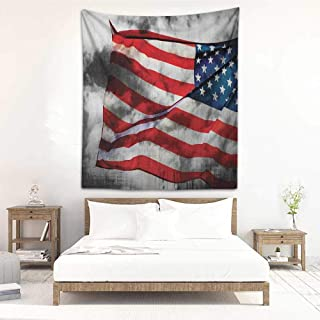 Tapestry Hippie American Flag Banner in The Sky on Cloudy Mist Display National Symbol Proud of Heritage Occlusion Cloth Painting 70