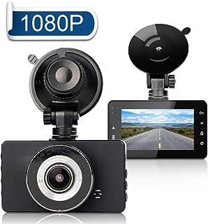 Cámara de Coche - FAGORY 1080P HD Dash CAM 3.0 IPS Lentes con Visión Nocturna Grabadora 170°Ángulo con WDR G-Sensor Detección de Movimiento Grabación en Bucle Monitor de Aparcamiento