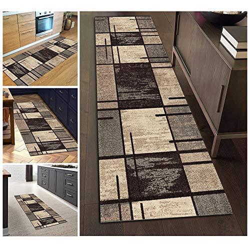 Filjr Alfombra Pasillo Larga Moderna Antideslizante Lavable, Alfombra de Poliéster Geométricas for Salón Cocina Dormitorio Personalizables (Size : 60×150cm)