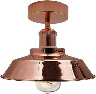 SRM, Ceiling Pendant Light, Vintage Industrial Ceiling Light, Industrial Metal Cage Ceiling Light Semi Flush Mount Mini Pe...