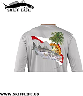 Snook Florida Fishing Shirt with FL State Flag Sleeve
