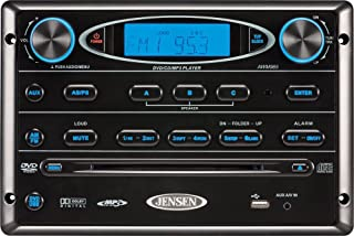Jensen AWM965 AM/FM CD DVD MP3/USB Wallmount Stereo with DVD Player, Front USB Supports MP3, WMA, JPEG Formats, Remote Control Included, 12 Volt
