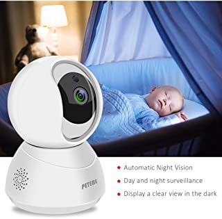 Baby Monitor 1080P FHD Home WiFi Security Camera Sound/Motion Detection with Night Vision 2-Way Audio Cloud Service Available Monitor Baby/Elder/Pet Compatible with iOS/Android