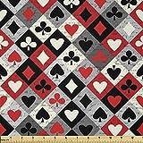 Lunarable Casino-Stoff von The Yard, Kariertes Rautenmuster