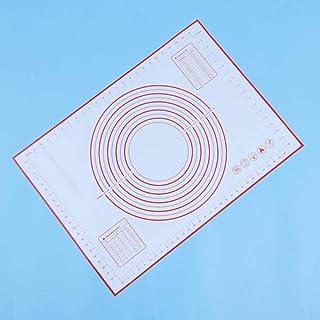 JIAYAN Tapis de cuisson extra large en silicone épais avec mesures anti-adhésif, tapis de cuisson à pâtisserie – 50 x 70 c...