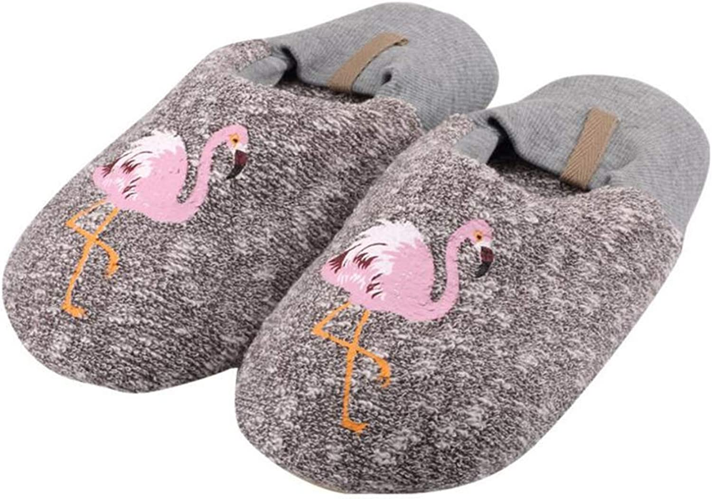 BeautyOriginal Winter Warm Anti-Slip House Slippers Indoor Warm Cotton Slippers