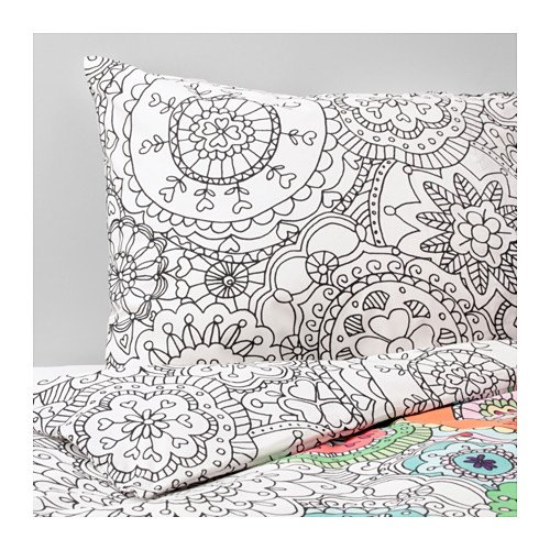 Ikea Duvet cover and pillowcase(s), multicolor 1828.11817.22
