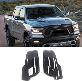 NINTE Mirror Cover for 2019 2020 Dodge Ram 1500, ABS Painted Gloss Black Side Mirror Covers W/Turn Signal Cut-Outs