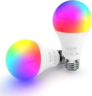 Smart Bulbs,7W Led Alexa Light Bulbs with RGB Color Changing,2.4G WiFi Bulbs A19 E26 Base,No Hub Required,Smart Light Bulb Works with Alexa and Google Home,2 Pack