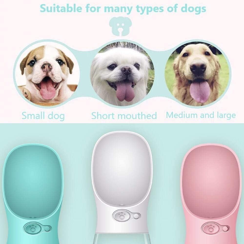 Fuente Pl/ástico Botella de Agua Portatil para Mascotas 550, Rosa Bebedero para Perros y Gatos para Viaje Desconocido RUMIIK
