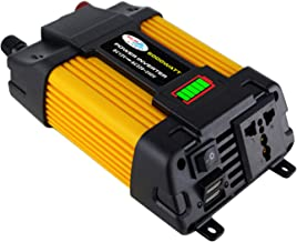 Kstyhome Inversor de Onda sinusoidal modificada Inversor de Potencia Pico de Alta frecuencia 6000W Convertidor DC 12V a AC 220V Inversor del Cargador de Corriente para automóvil