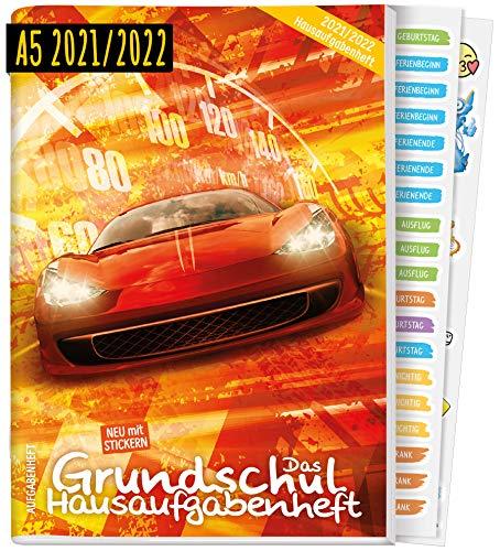 Hausaufgabenheft Grundschule 2021/2022 A5 [Racing]   Das Grundschul-Hausaufgabenheft für Jungen + Lerntipps, Sticker, Lern- und Denkspiele   nachhaltig & klimaneutral