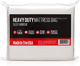 Sleep Armour Mattress Bags : Heavy Duty 4 mil Thick Mattress Bag for Storage/Moving, Made in The USA, Queen 2-Pack