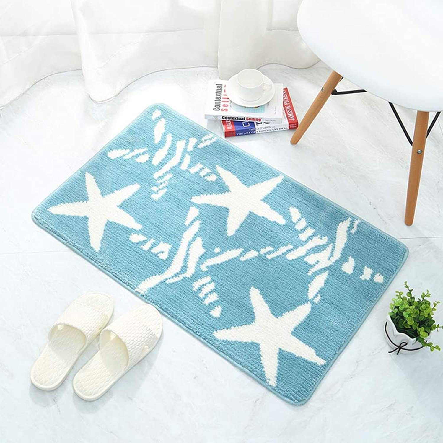 MING REN Floor mat - Polyester fabric, soft and comfortable, absorbent and non-slip, environmentally friendly, stylish cartoon bathroom mat absorbent non-slip home kitchen bedroom mat - 2 sizes availa