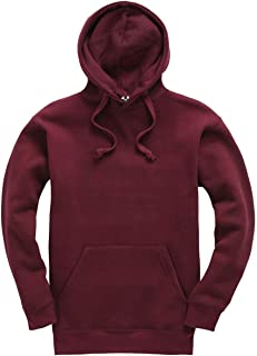 Plain Pullover Hoodie Hooded Top Unisex Mens Ladies Hooded Sweatshirts