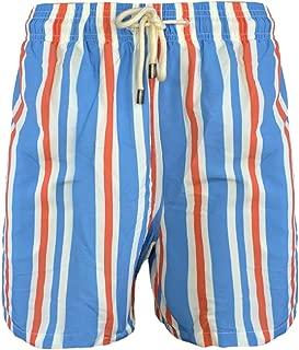 Men's The Classic Swim Trunks, Blue Cream Orange