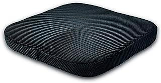 Doifck Memory Foam Seat Cushion Lumbar Back Support Pillow Lumbar Respaldo Almohada Cojín Terapéutico Ortopédico Ergonómico Espuma Memoria Prevención(Cojín del Asiento,Beige
